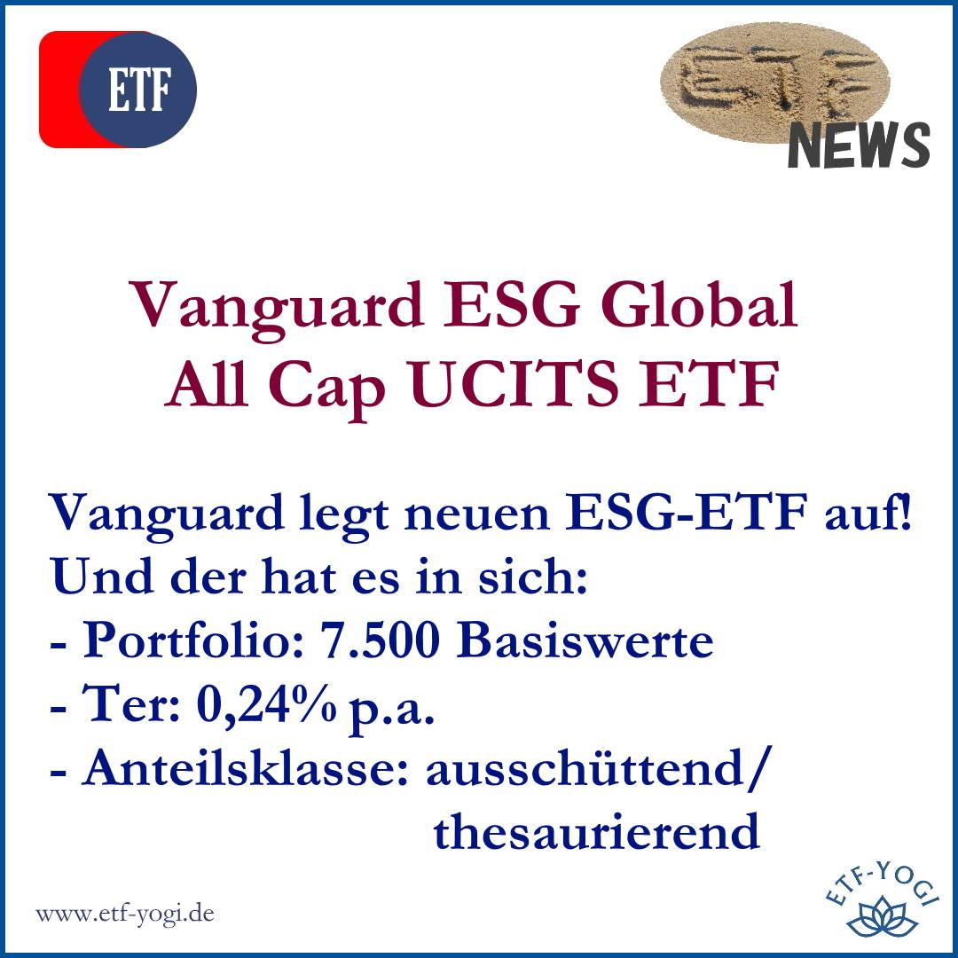 Vanguard ESG Global All Cap UCITS ETF – Vanguard goes ESG