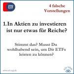 1. In Aktien zu investieren ist nur etwas für Reiche - 4 falsche Vorstellungen