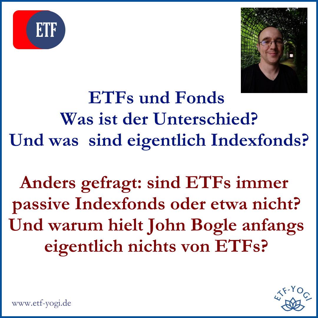 Unterschied zwischen ETFs und Fonds – Und was sind Indexfonds?