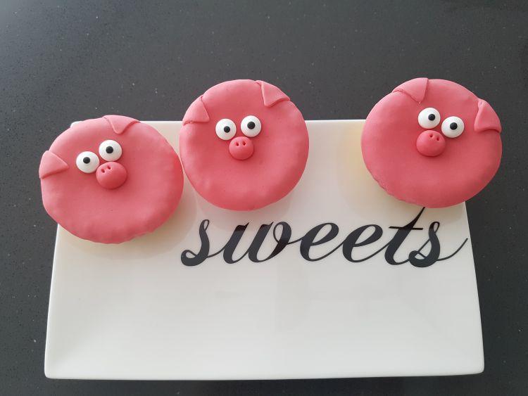 cupcakes roze varkentjes