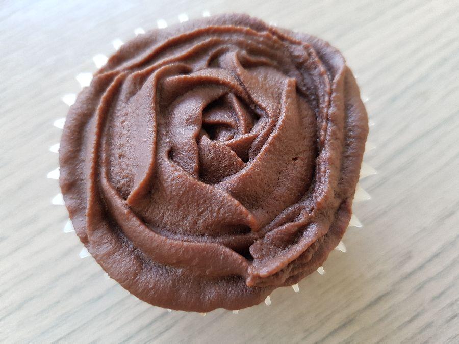 Chocolade cupcake met chocoladeglazuur
