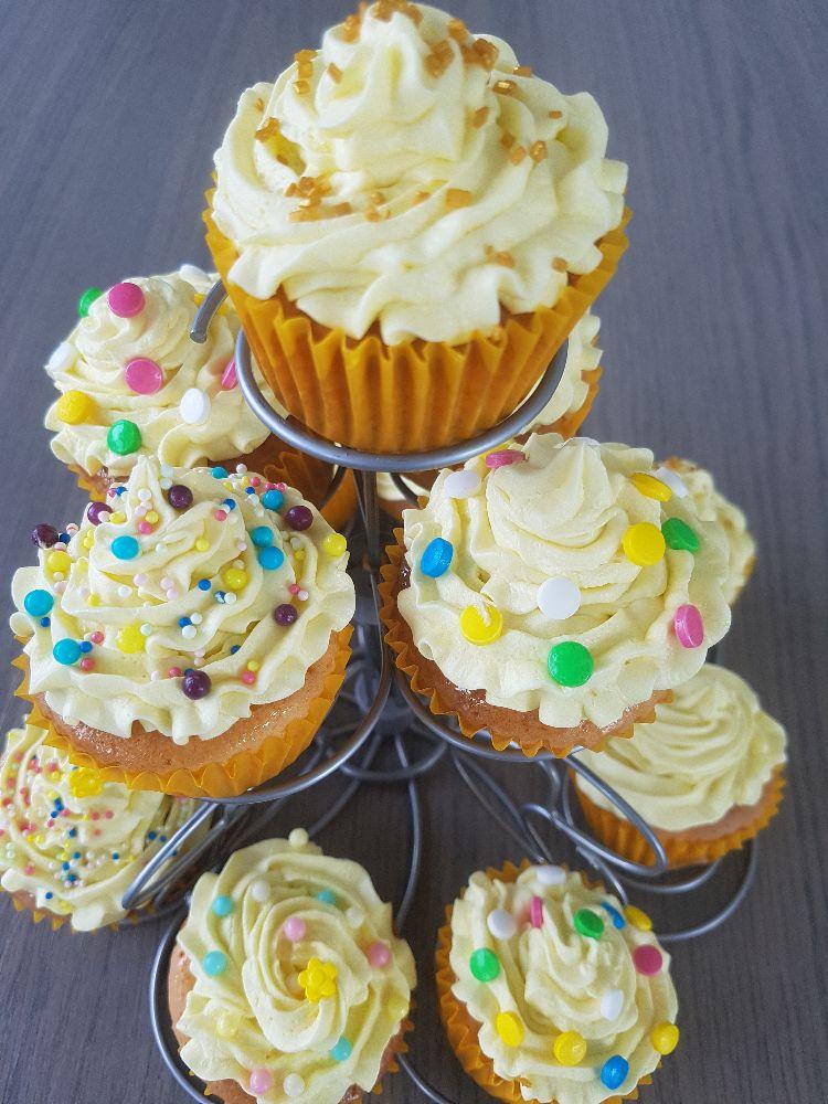 citroen cupcakes in cupcakehouder