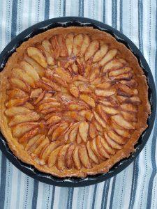 appel_abrikozen_taart - uit de oven
