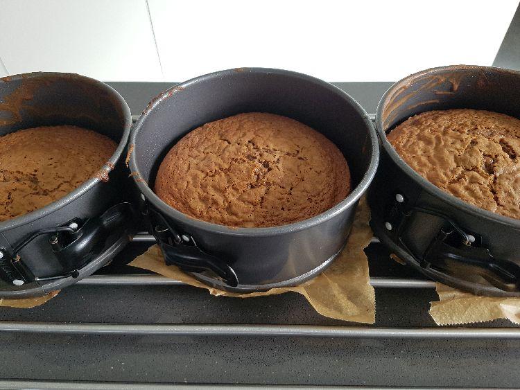 taart gebakken drip taart