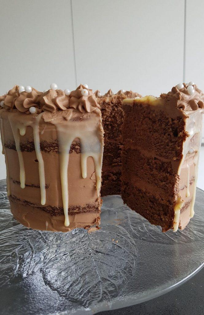 chocolade drip taart