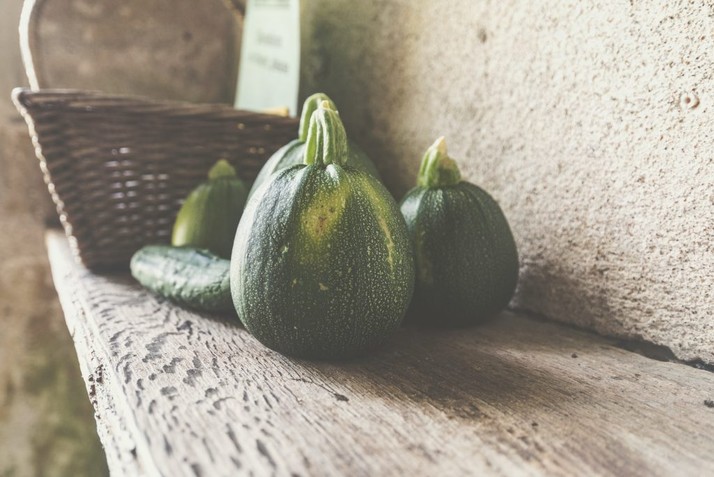 opgevulde ronde courgette