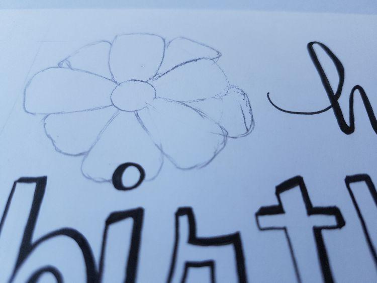 handletteren bloem