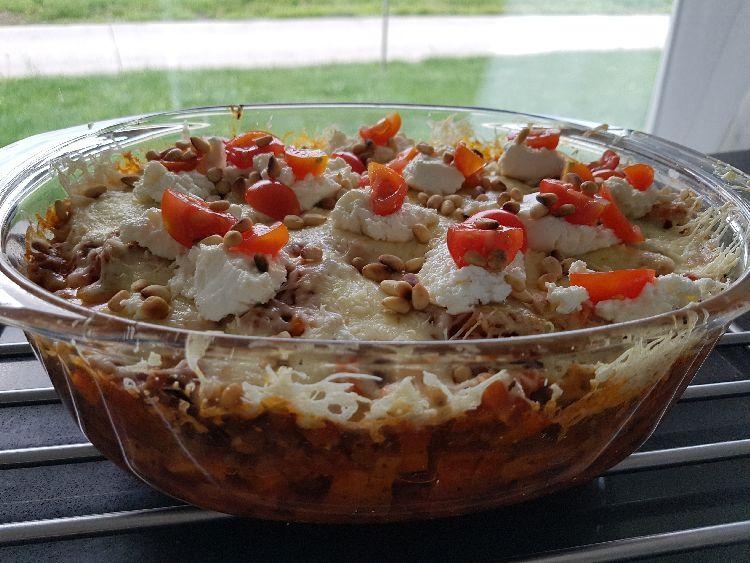 zoete aardappel ovenschotel klaar