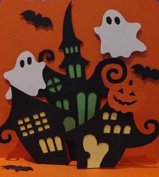 Halloween pop-up kaart
