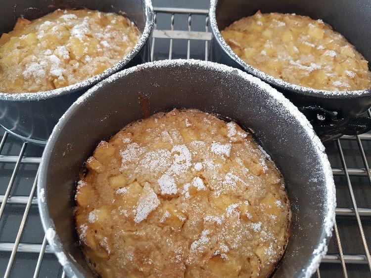 metertjes appeltaart gebakken