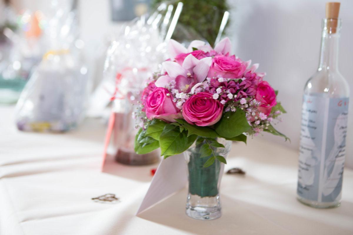 Blumendeko fotografiert von Event DJ Mark