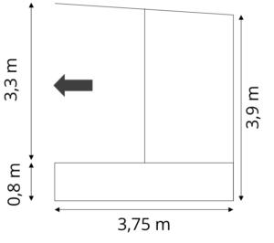 Skiss Mobil Scen 16 kvm, uthyrning, hyra