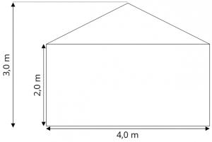 Skiss Tält 4x6 m att hyra, partytält