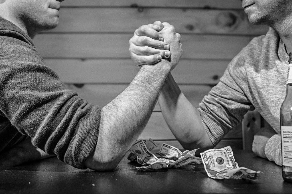 arm-wrestling, indian wrestling, competition