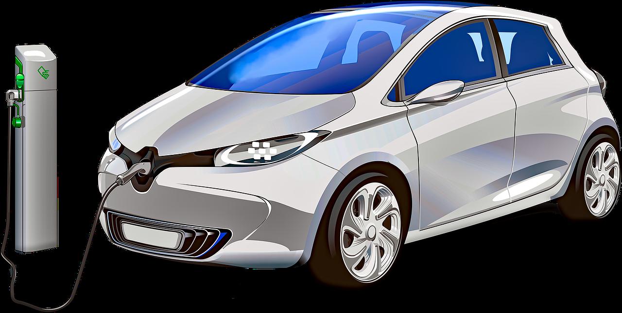 electric car, car, plug