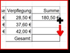 Das Ausfüllkästchen in Excel