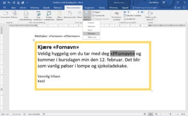 Flette til Outlook fra Word og Excel – Lekkert!