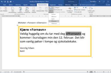 Flette til Outlook fra Word og Excel – Lekkert!