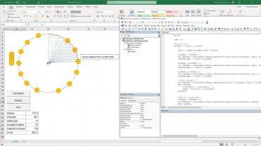 Excel VBA – Jobbe med figurer, sirkler, rettvinklede trekanter – og pytagoras