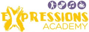 about, expressions academy, logo