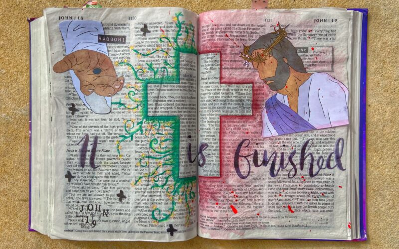 Bible journaling entry for good Friday