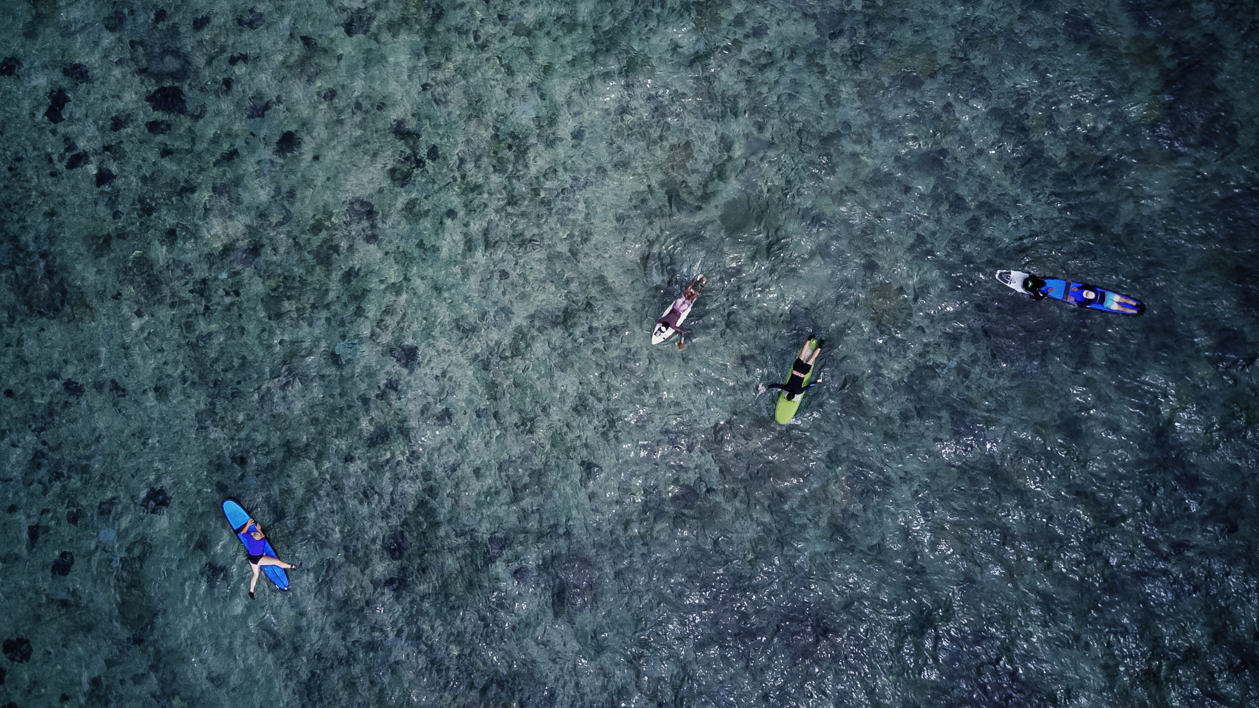 The New Bro surfing school Nusa Lembongan Bali Indonesia droneshot