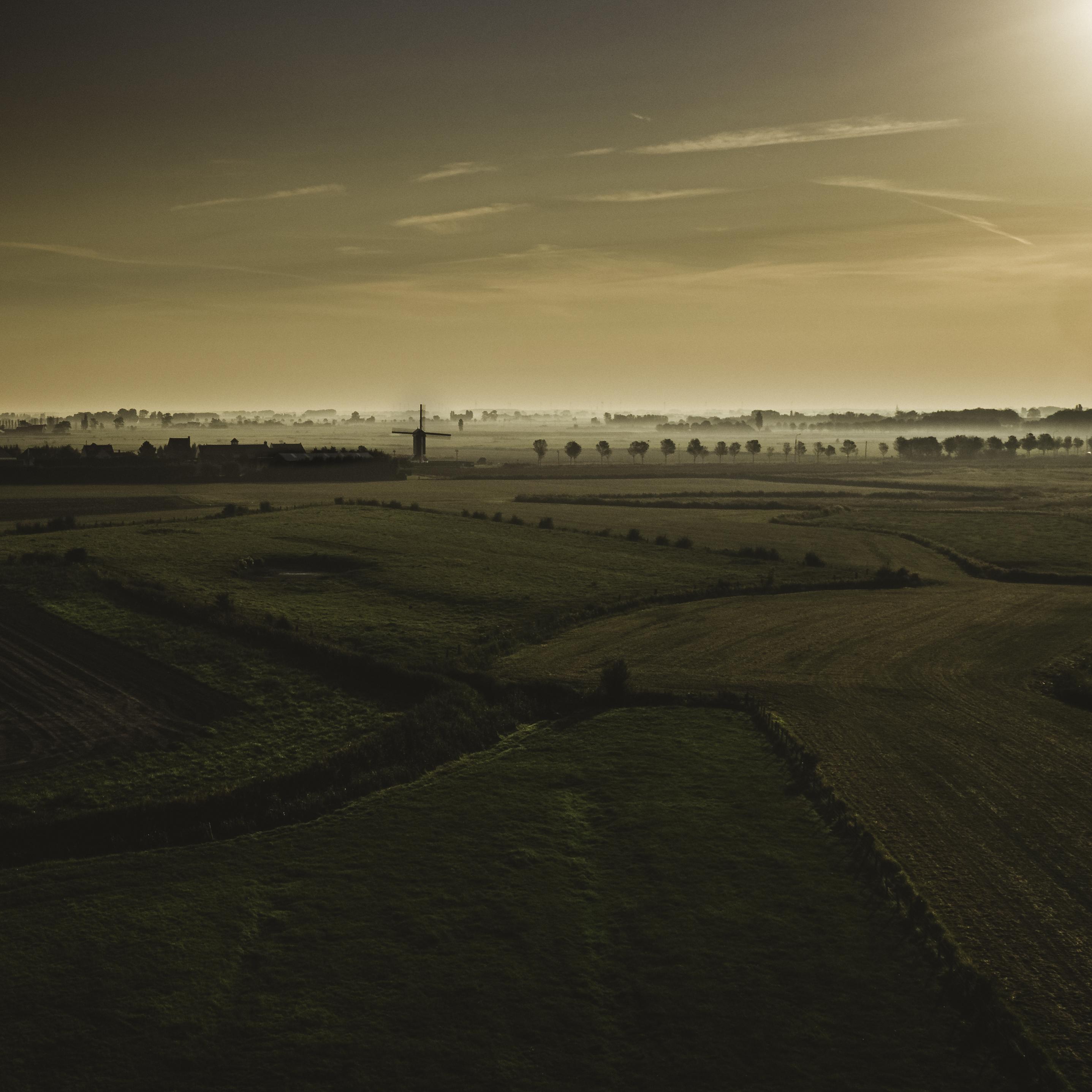 dronefoto West-Vlaanderen Klemskerke