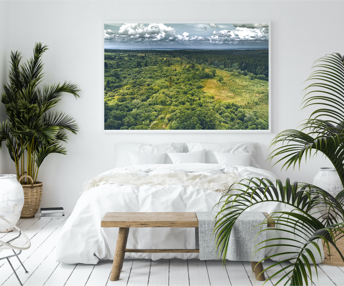 Droneshot wall art prints bed room drone photo drone photography""