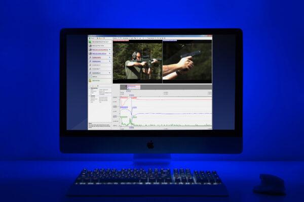 Bild på datorn med OmniSync