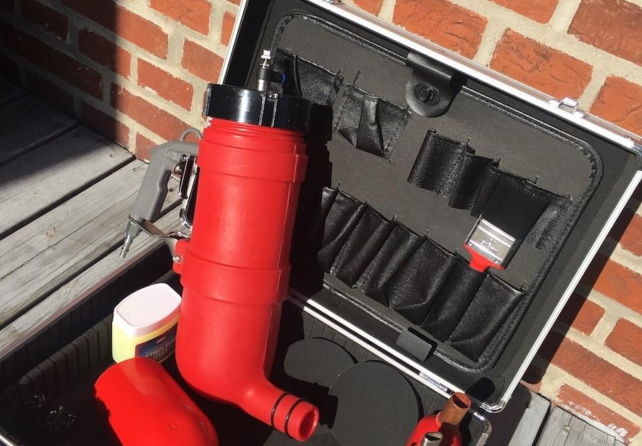 Fugepistol til mørtel på lufttryk