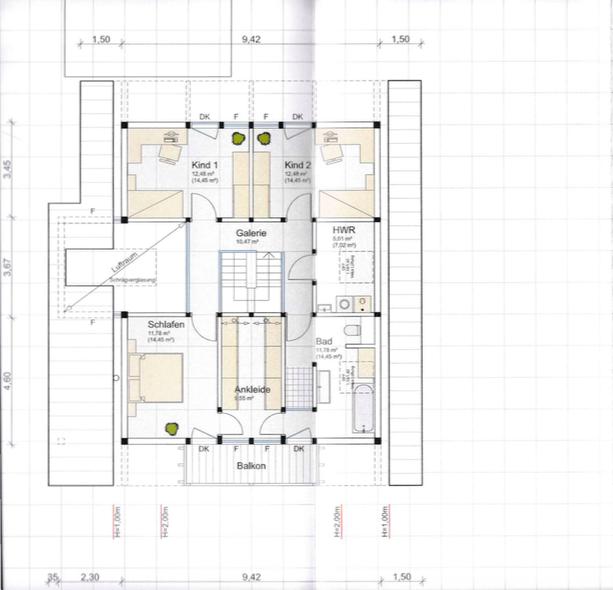 Detmolder Fachwerkhaus - Grundriss Dachgeschoss