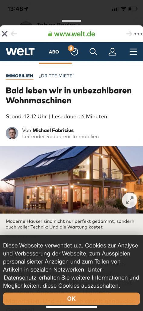 Preisanzeige modernes Fachwerkhaus