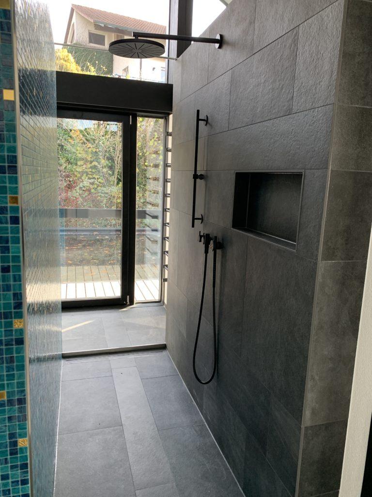 Ein Bad in einem Huf Haus Art3
