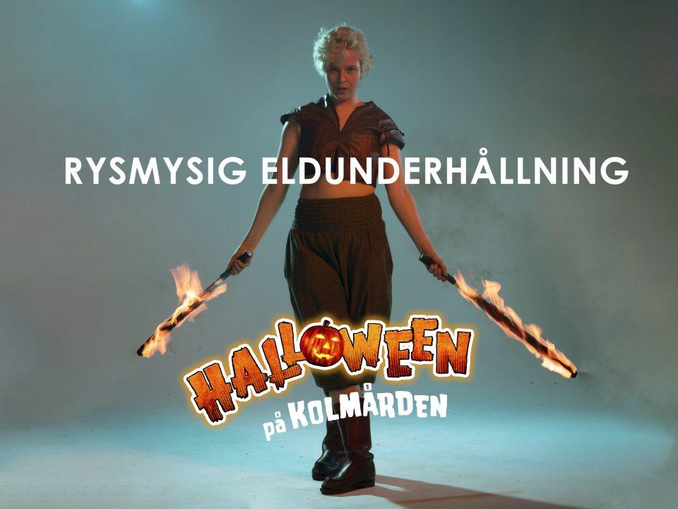 Eldshow Kolmårdens Djurpark Halloween