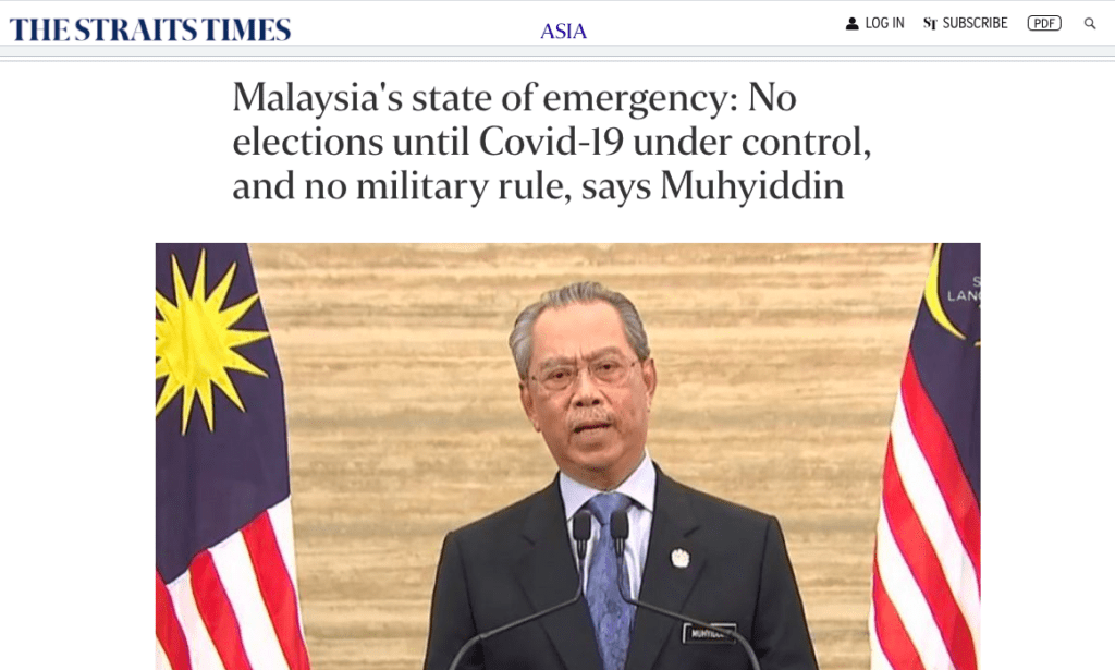 State of Emergency in Malaysia