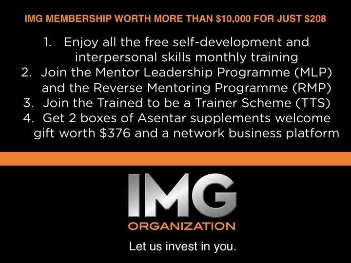 What do you get when you join IMG Organization.