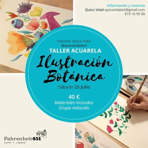 Taller de acuarela. Ilustración botánica @ Fahrenheit451 Café y Libros