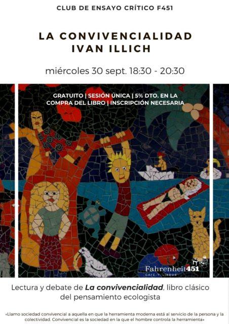 Club de Ensayo crítico F451 - La convivencialidad, Ivan Illich @ Fahrenheit451 Café y Libros