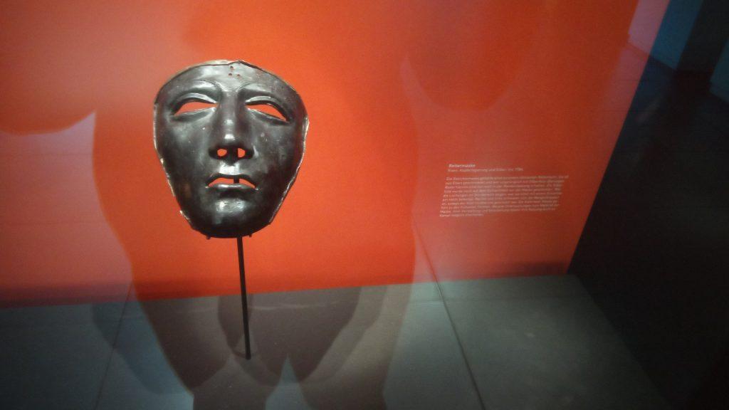 Die Maske eines Varus Schlacht Reiters