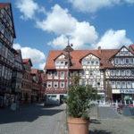 Der Marktplatz von Hann. Münden