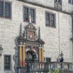 Die Rathaustreppe von Hann. Münden