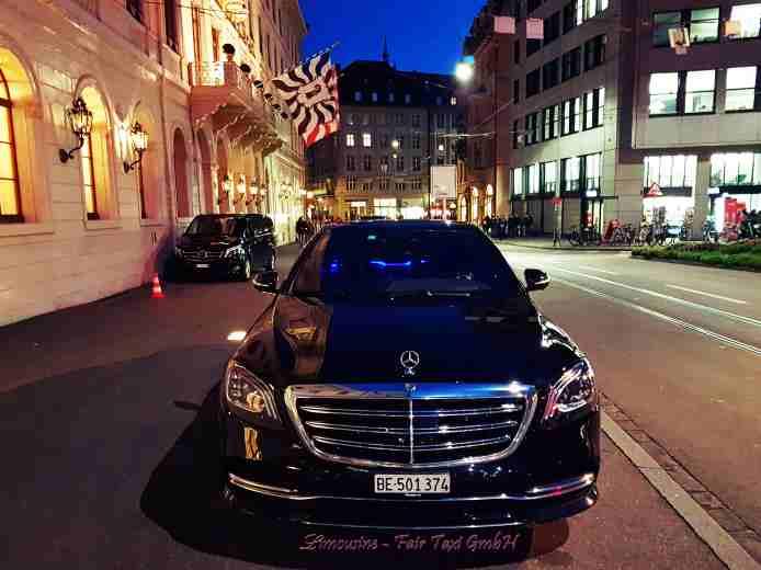 Limousinenservice Bern - Schweiz. mit unserer Mercedes Benz New S-Klasse, V-Klasse Van. Executive Sedans. Starten Sie Ihre Reise bequem in Stil und Komfort. Keine versteckten Gebühren. Verfügbar rund um die Uhr. Private Chauffeur, luxuriöse Limousine.