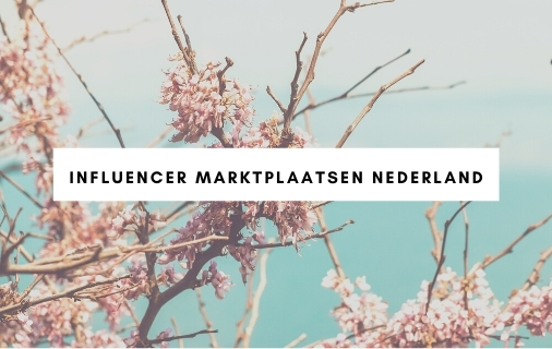 Influencer marktplaatsen Nederland