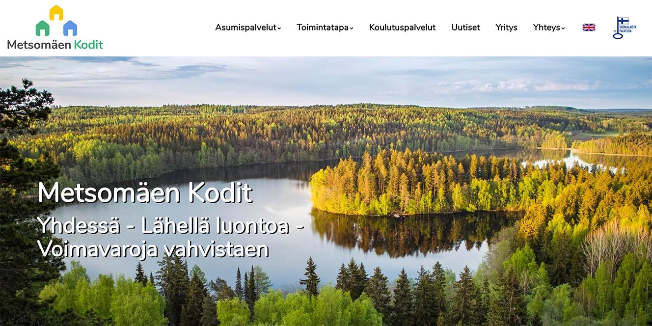 Metsomäen Kodit - nettisivu