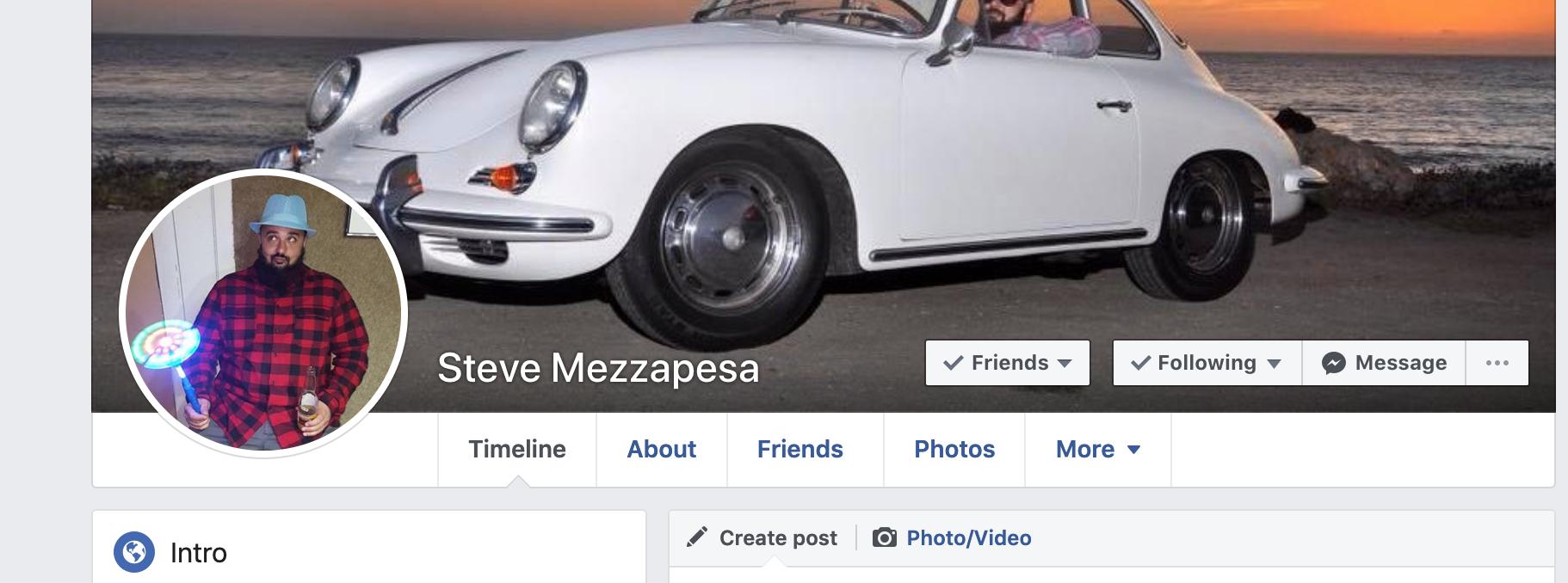 Steve Mezzapesas Facebook