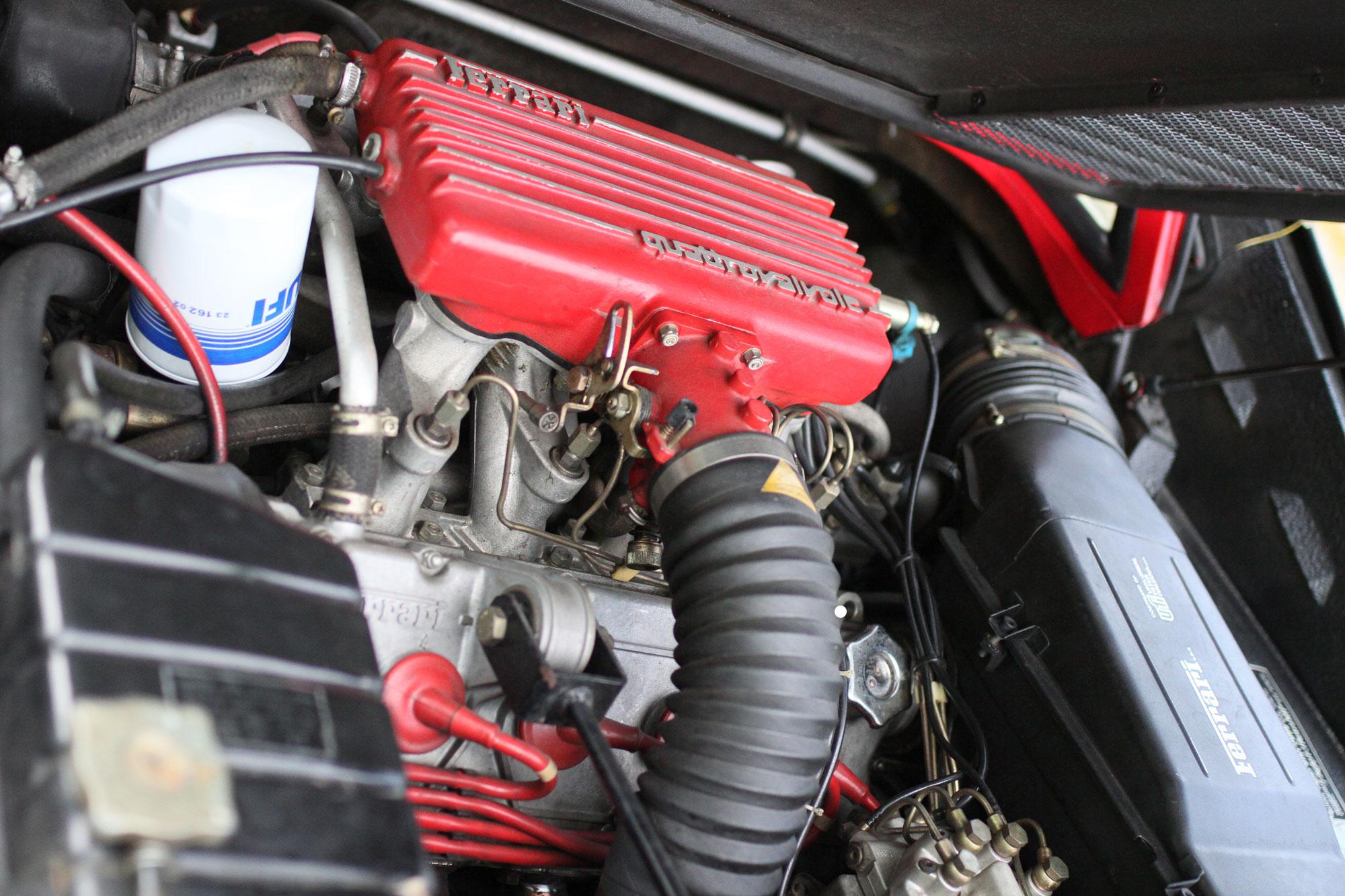 A 90-degree V8 in the Ferrari 308