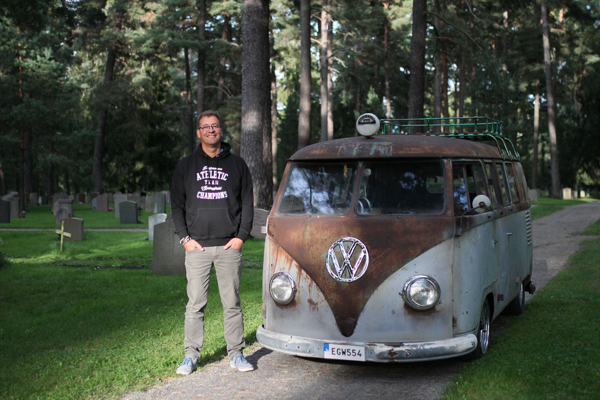 Mike and his Patina Kleinbus from 1957