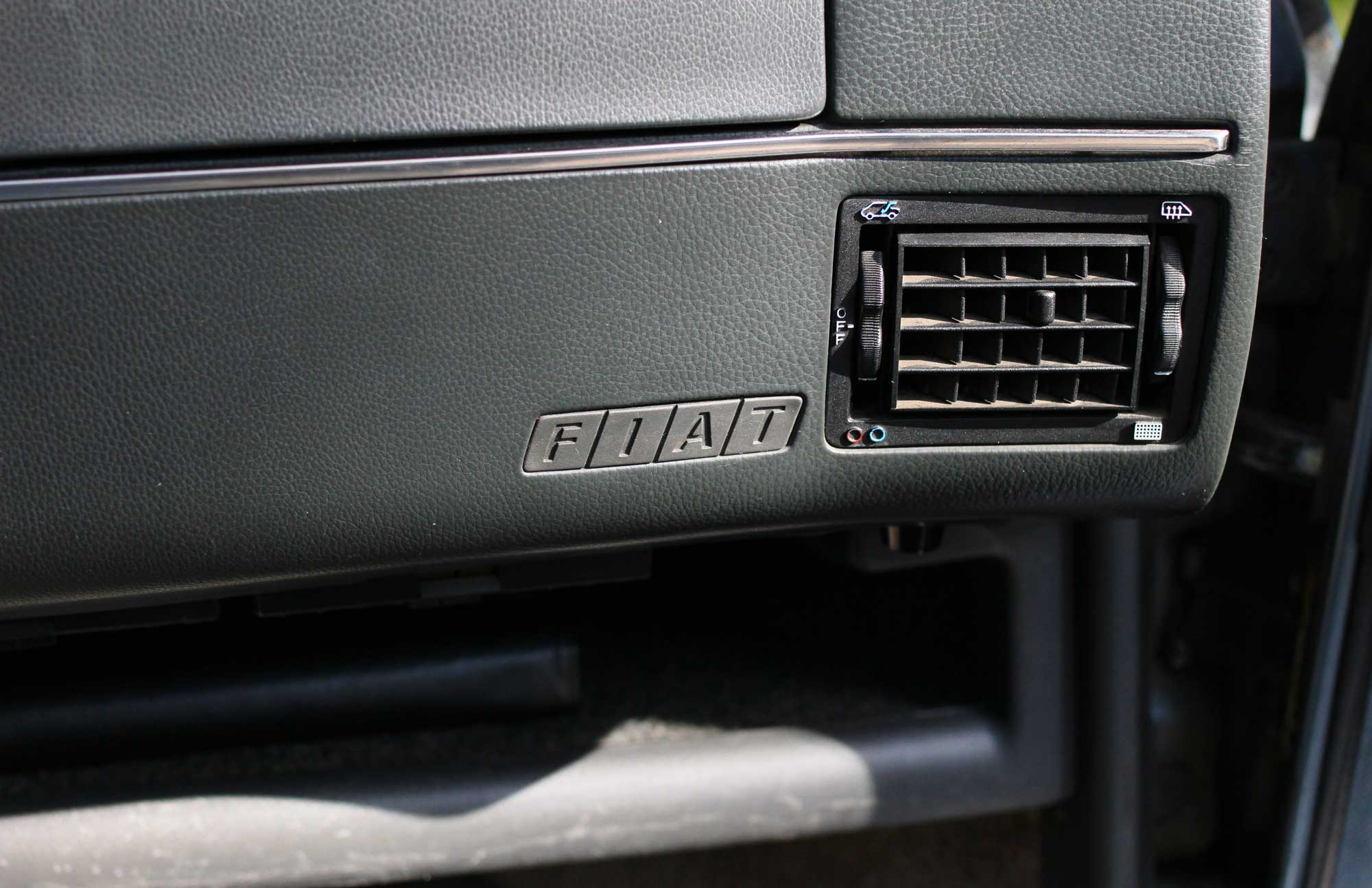 fiat brand inside the car