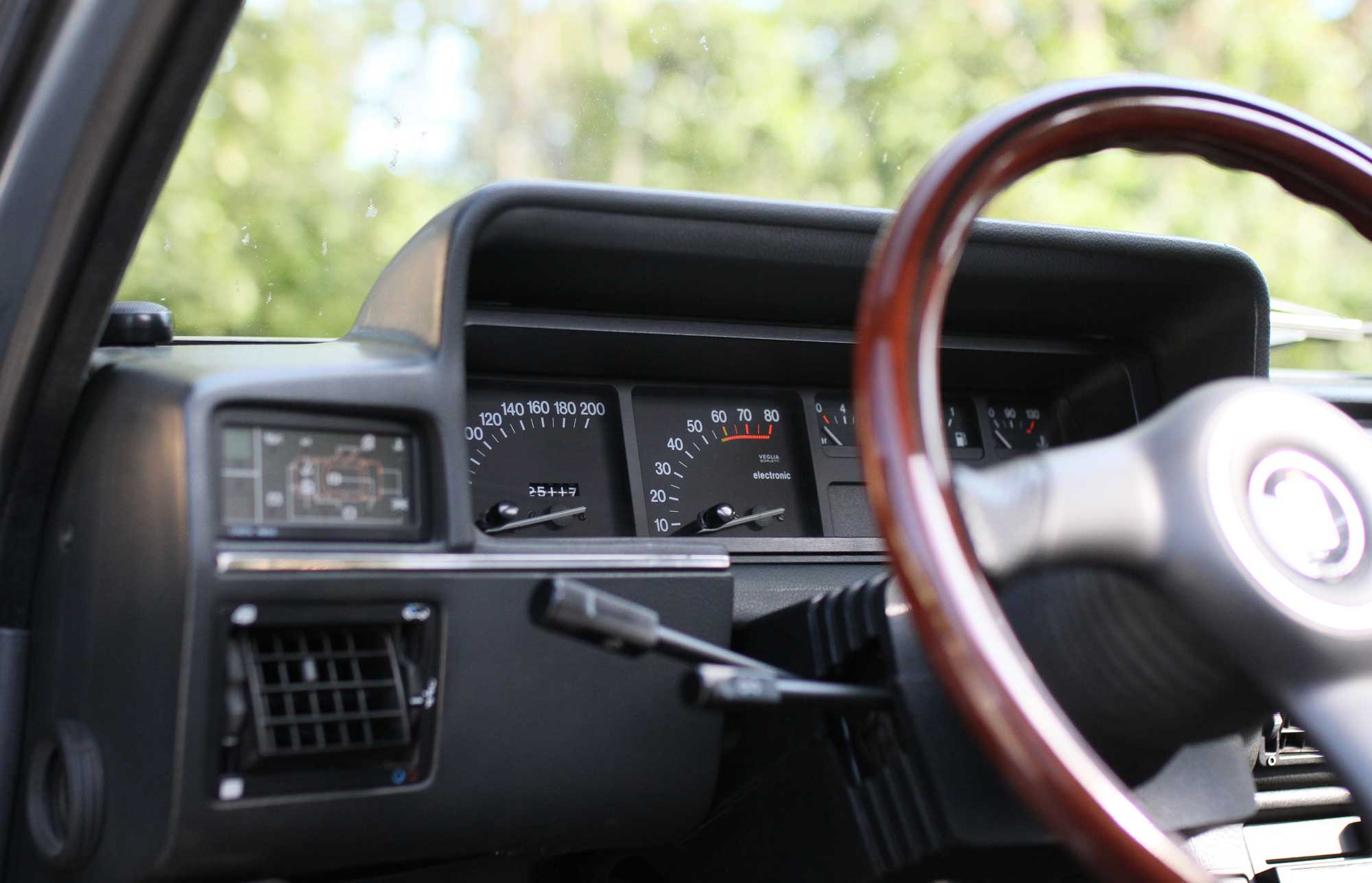 Steering Wheel Nardi in a fiat