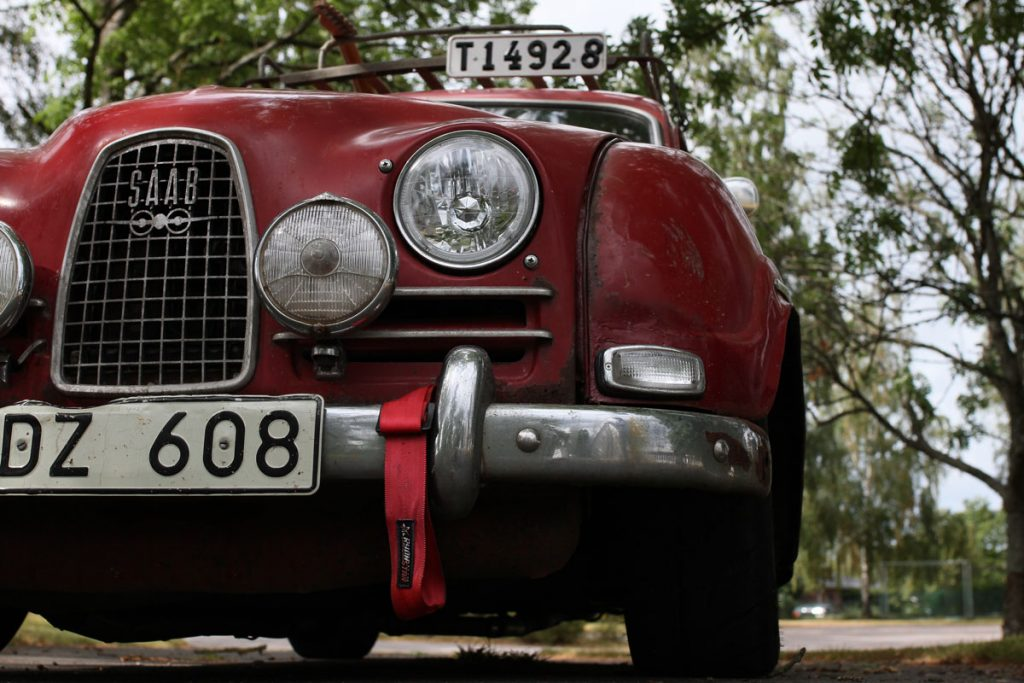 saab 96 front from below